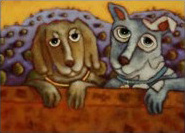 They Didn't Even Invite Us - Painting by Lori Faye Bock