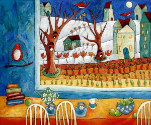 Joy In The Neighborhood - Painting by Lori Faye Bock