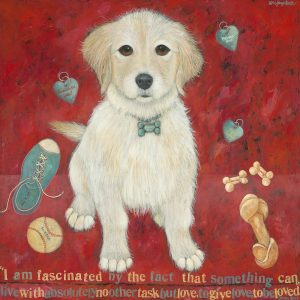 Ready for My Forever Home - Painting by Lori Faye Bock