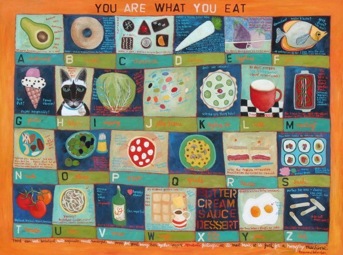 You Are What You Eat! - Painting by Lori Faye Bock